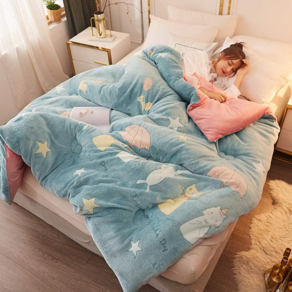 Lamb Double-faced Velvet Wool Quilt Warm Winter Blanket Core Extra Thick