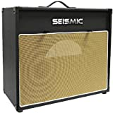 Seismic Audio-1x12 Guitar Speaker Cab Empty-7 Ply Birch-12-Inch Speakerless Cabinet-Vintage New-Black Tolex-Wheat Cloth Grill-Front or Rear Loading Options
