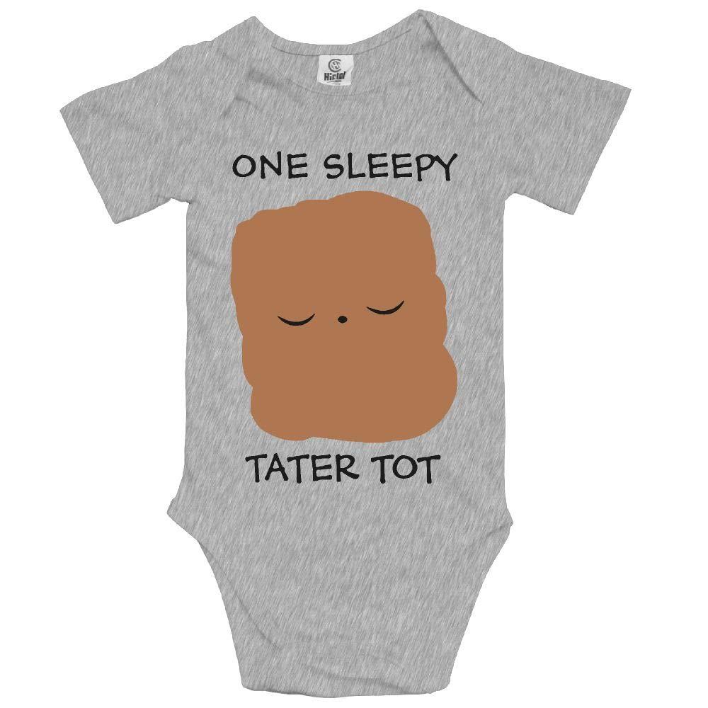 KunYBC 221 Sleepy Tater TOT Baby Unisex Toddler Bodysuit Short Sleeves Romper Jumpsuits