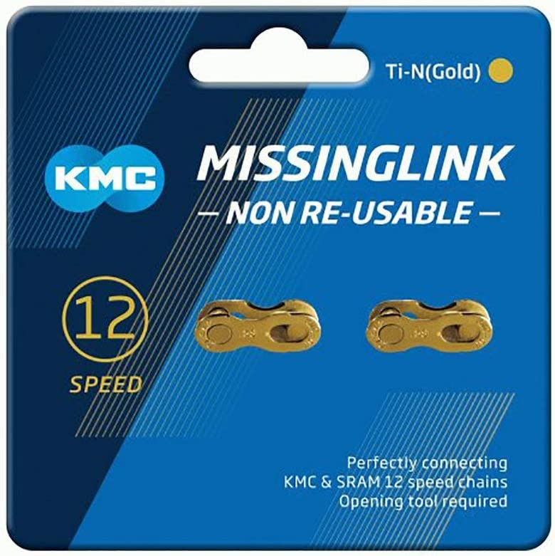 New Blue Packing KMC Missing Link 7,8,9,10,11,12 Speed Silver//Gold