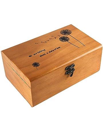 Lembeauty - Caja de Costura de Madera, Estilo Retro, portátil, Organizador para Viajes