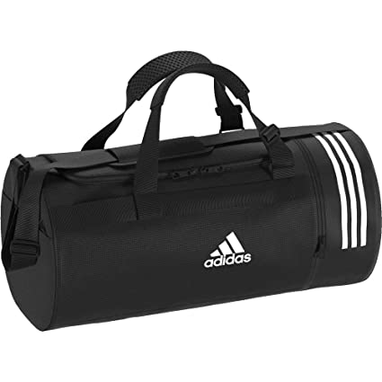 Amazon.com : adidas Convertible 3-Stripes M Duffel Bag ...