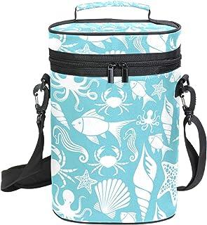 EZIOLY Sac de transport isotherme pour pieuvre et étoile de mer avec poignée et bandoulière