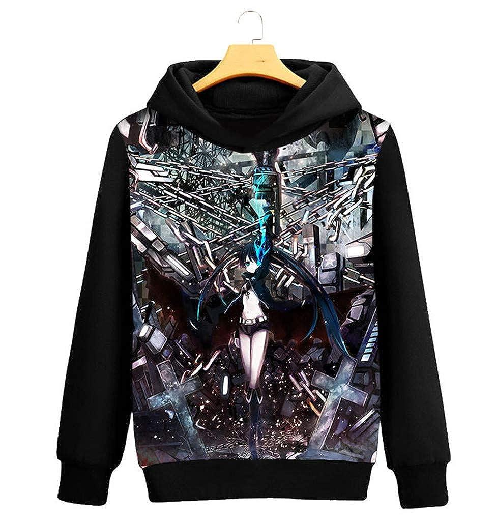 Cosstars schwarz Rock Shooter Anime Kapuzenpullover Sweatshirt Sweatshirt Sweatshirt Cosplay Kostüm Hoodie Mantel Pulli Sweater B07L8T5Z1W Kapuzenpullover Überlegene Materialauswahl 57187e