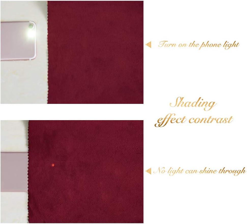 Tenture Deporte Thermiques Contre Le Vent pour Salon Chambre 2 Panneaux PONY DANCE Rideaux Bordeaux de Velours L 132 cm x H 210 cm Rideaux de Fen/être Doux et Lisse