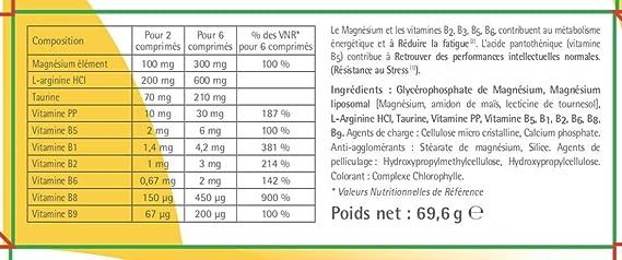 D-Stress - 80 comprimidos - magnesio altamente asimilado, taurina, arginina y vitaminas del grupo B - origen Francia: Amazon.es: Salud y cuidado personal