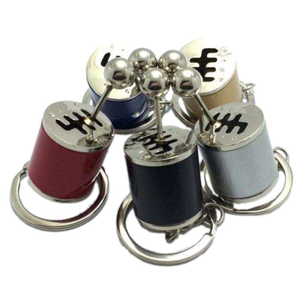 Car Key Ring Chain Car Modified Key Ring Gear Shift Knob Type Auto Tuning Parts Key Ring Car Styling Accessories Black