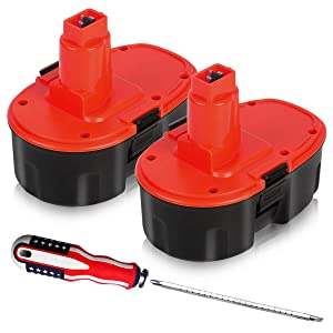 Enegitech Upgraded 18V XRP 3.6Ah Replacement Battery for Dewalt DC9096 DC9096-2 DE9039 DE9095 DE9096 DE9098 DW9095 DW9096 DW9098 DE9503 18-Volt Batteries - 2 Pack