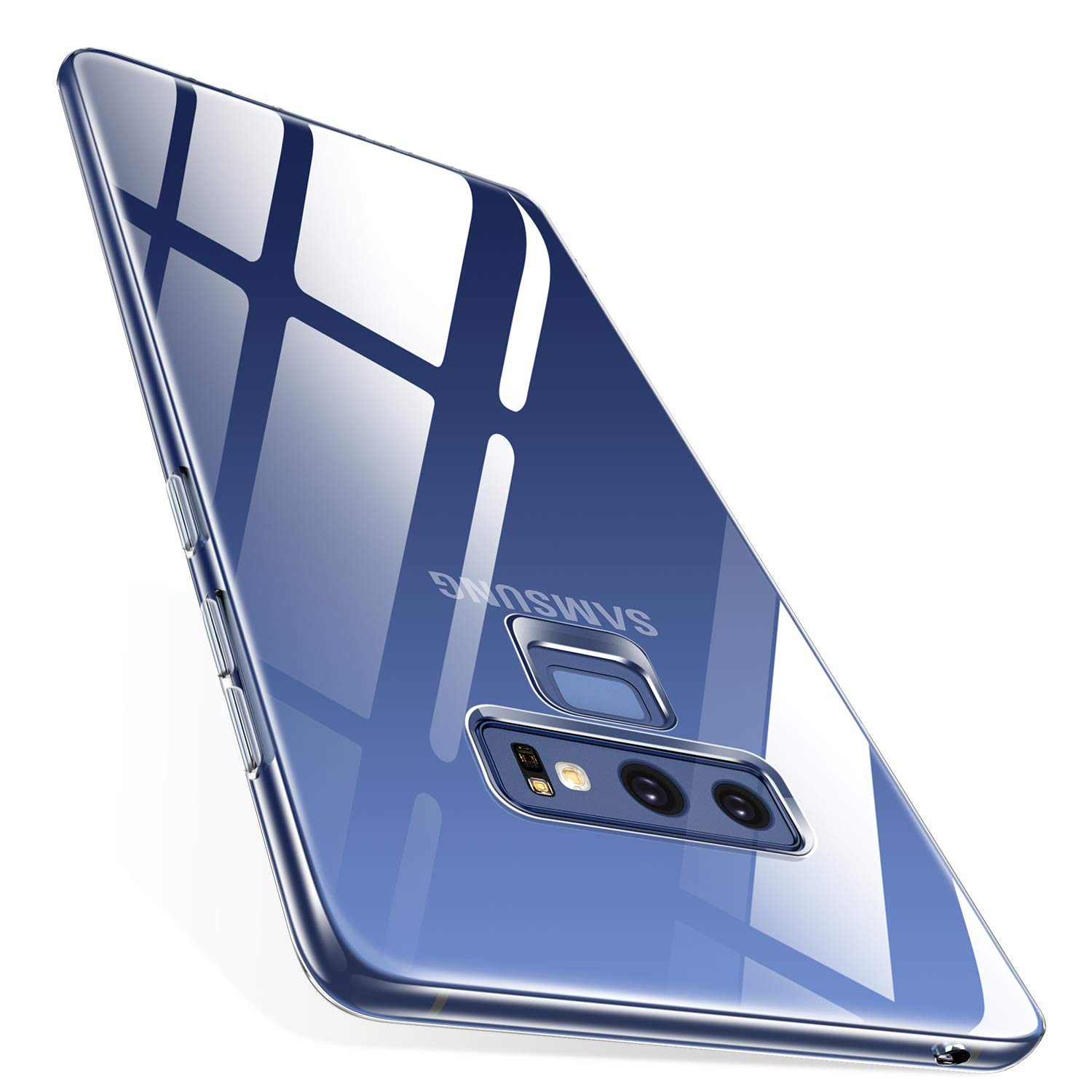 TORRAS Case for Galaxy Note 9, Crystal Clear Ultra Thin Slim Fit Soft TPU  Gel Case Cover with Transparent Frame Compatible with Samsung Galaxy Note
