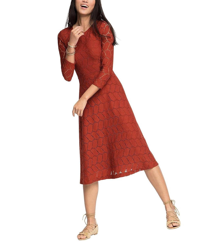 edc by ESPRIT Damen Kleid 036cc1e001-mit Unterlegter Spitze