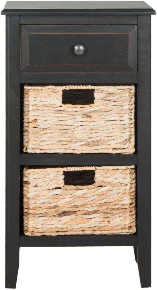 Safavieh American Homes Collection Everly Distressed Black Side Table