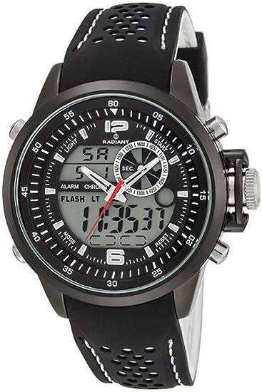 Reloj RADIANT NICKEL FREE RA400601 Hombre Silicona Negro Cronógrafo: Amazon.es: Relojes