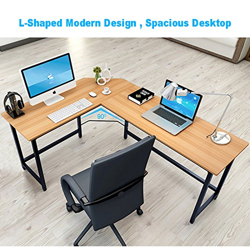 Rent To Own Tribesigns Modern L Shaped Desk Corner Computer Desk PC Latop  Study Table