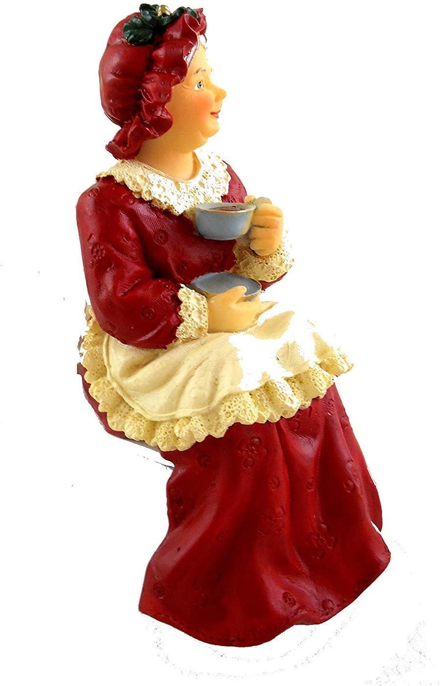 Weihnachtsfrau Femme du Père Noël//la mère Noel figurine poupée 1:12
