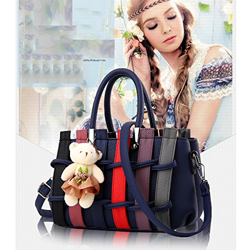 blue Bear Woven Dark with Bag Messenger Color Tisdaini Bag Handbag Shoulder Purse Fashion hit qI1gO