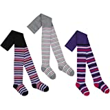 Girls Cotton Rich Tights Cute Patterned Animal Design Striped Unicorn