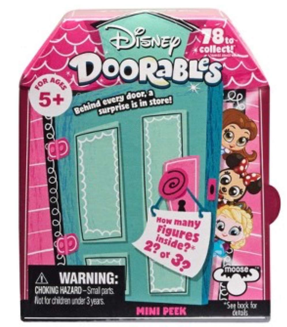 Disney Doorables Mini Stack Playset Hooks Pirate Ship Multi Peek and Mini Peek Mystery Bundle MOOSE TOYS