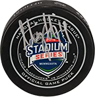 Niklas Hjalmarsson Chicago Blackhawks Autographed 2016 Stadium Series Official Game Puck - Fanatics Authentic Certified