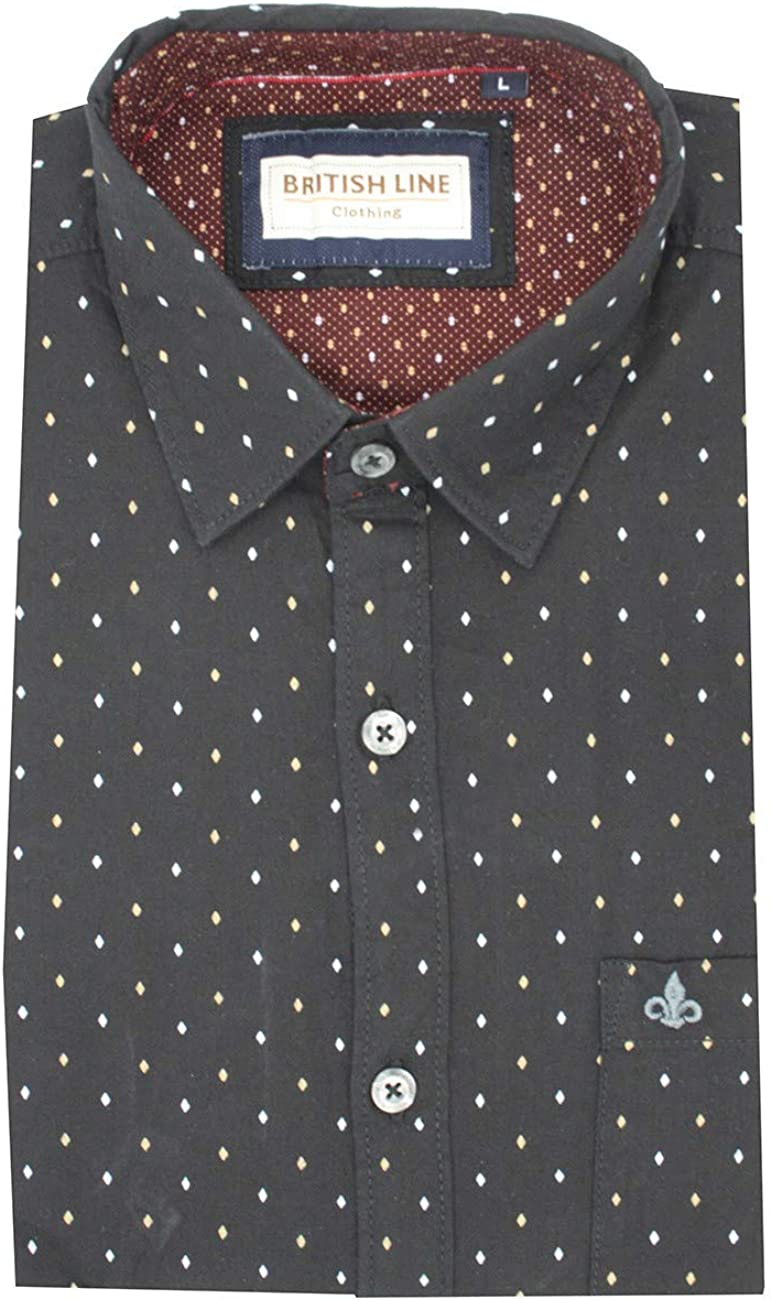 British line Karl - Camisa de Manga Corta para Hombre, Color ...