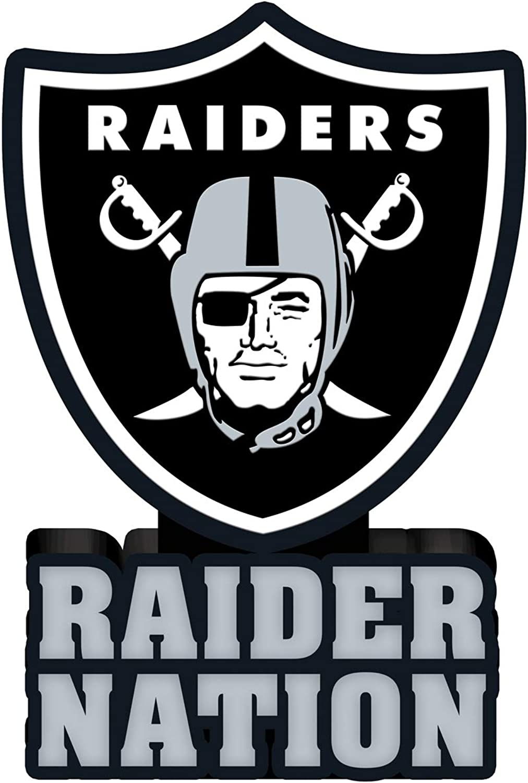 Team Sports America NFL Oakland Raiders Fun Colorful Mascot Statue 12 Inches Tall