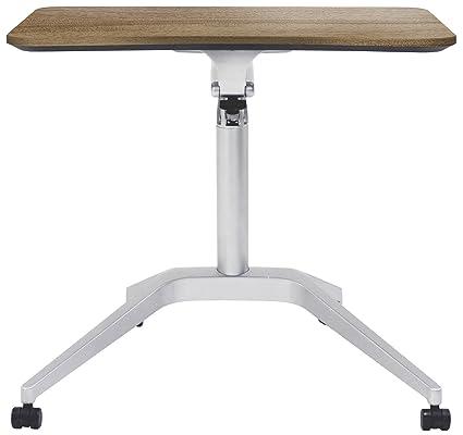 Jesper Office 201 WAL Workpad Height Adjustable Laptop Cart Mobile Desk,  With Walnut Top