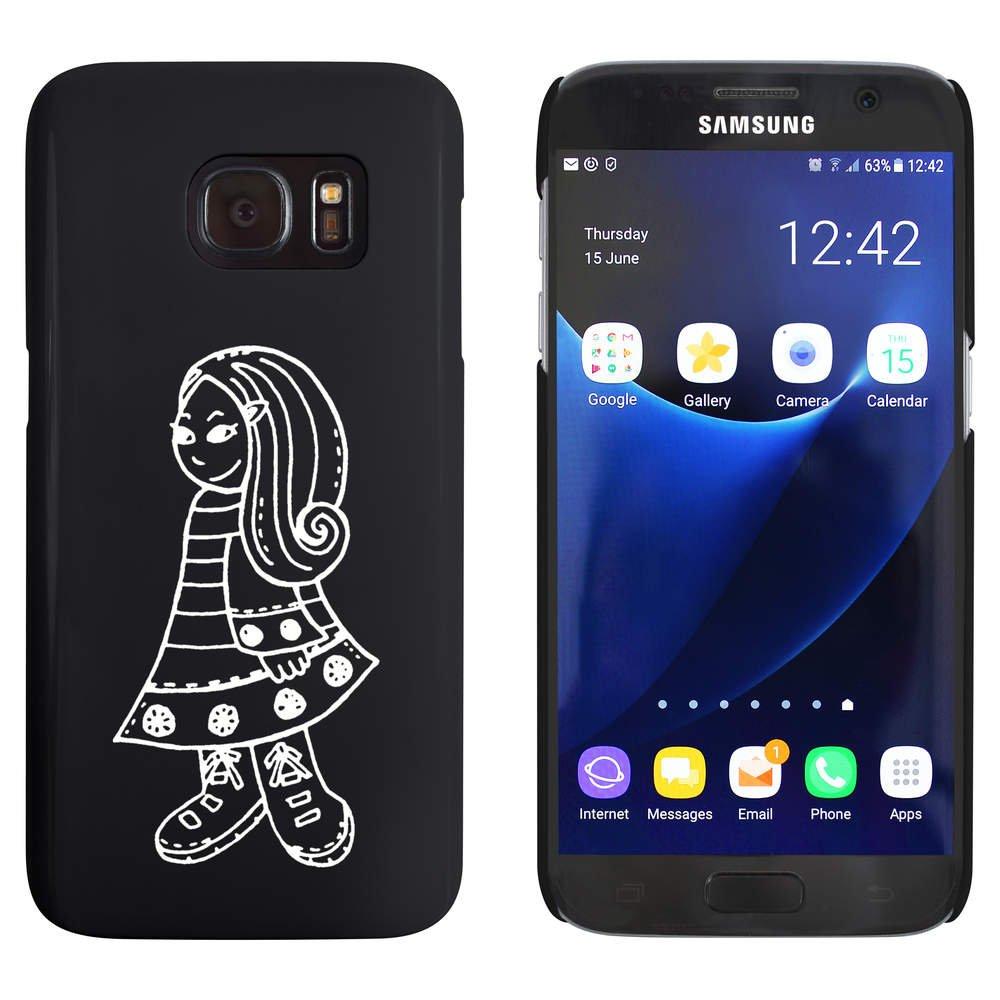 Azeeda Negro 'Niñita' Funda / Carcasa para Samsung Galaxy S7 (MC00020127)