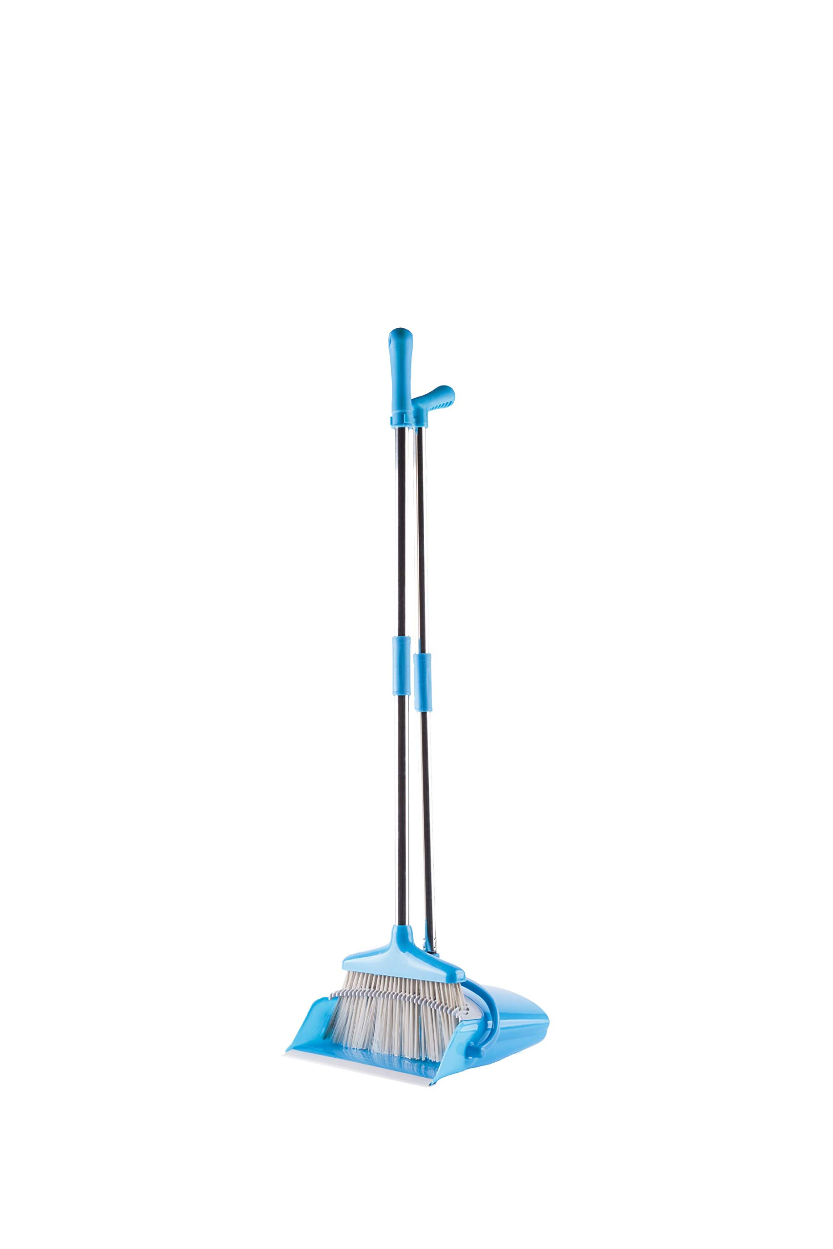 Broom and Dustpan with Handle Set - Long Handled, Collapsible and Extendable to 53'' - Plus Bonus Rotatable 180 Degree Broom Head - Best Broom Combo Set