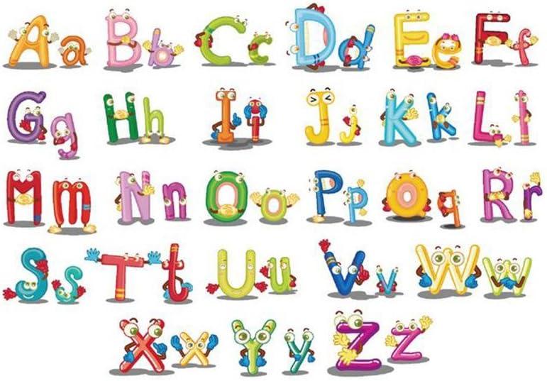 Ogquaton Anglais Alphabet Early Education Stickers Enfants s Stickers Muraux De La Chambre Commerce Imperm/éable Amovible Pratique Et Pratique