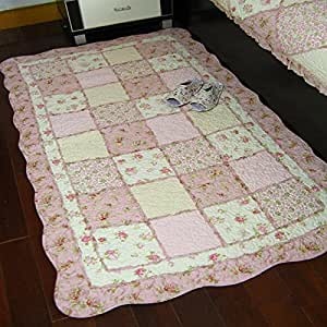 Amazon Com Ustide Rustic Rugs For Living Room Pink Floral