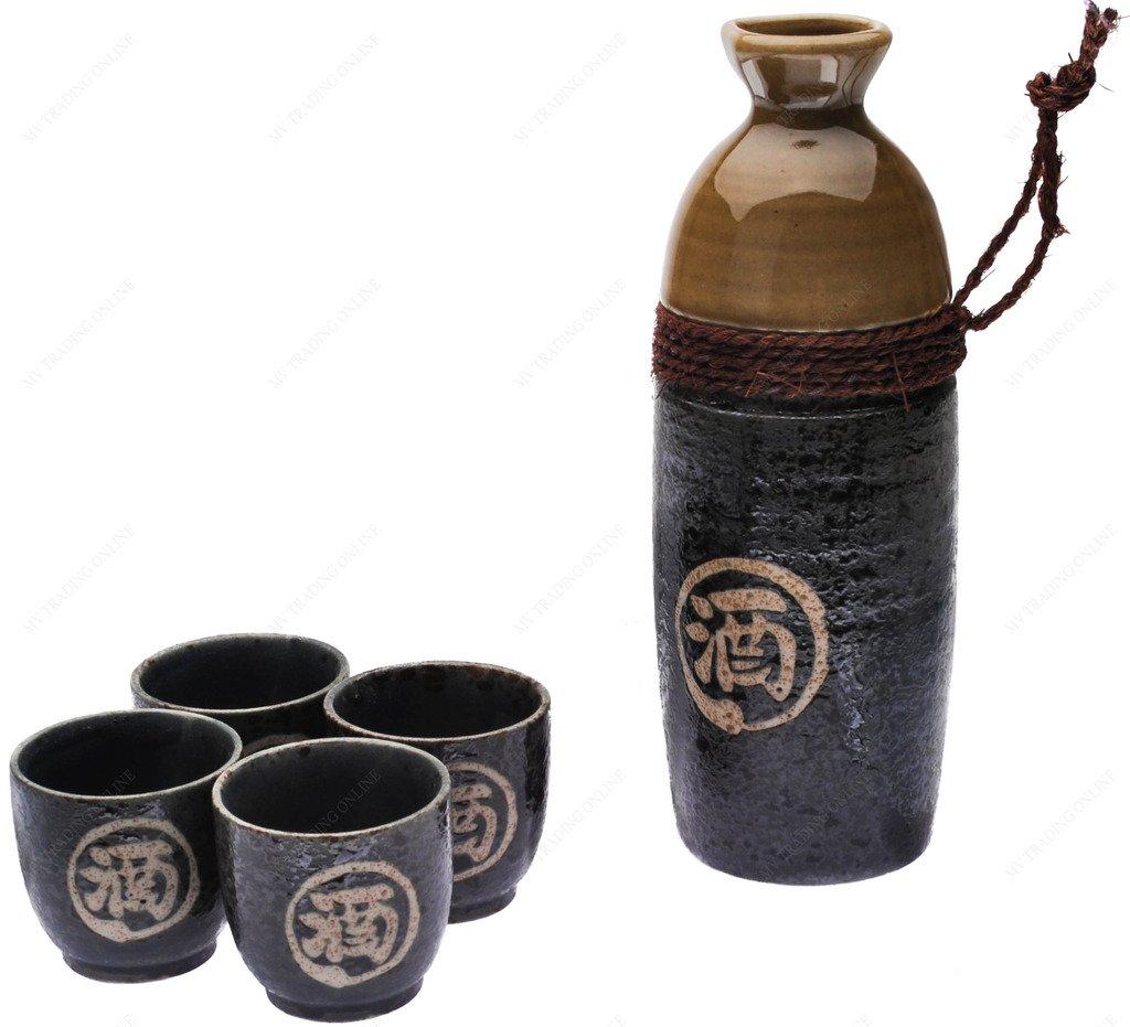 Japanese Sake Set with ''SAKE'' Kanji Symbol