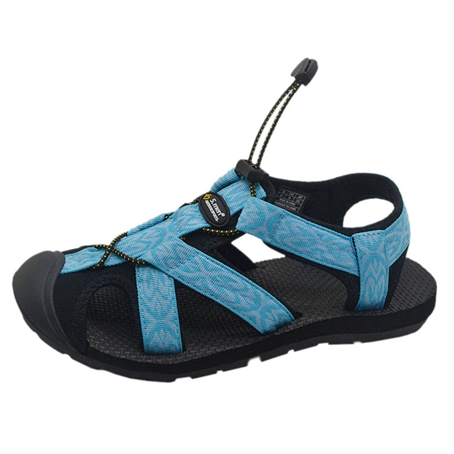 5.men Women's Outdoor Hiking Sport Sandals Closed-Toe Water Shoes (7.5)