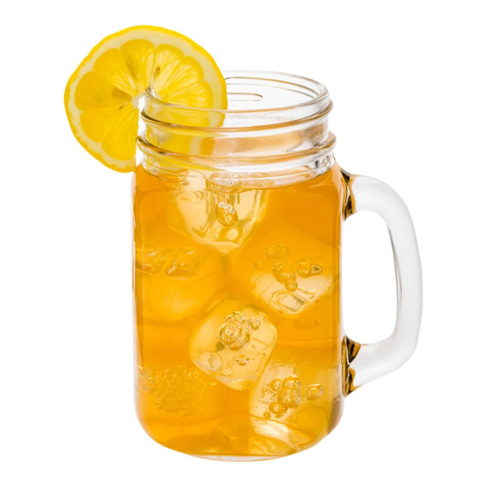 Mason Jar Mug - Mason Jar Drinking Glass with Handle - Great For Weddings, Catered Events or Home - 15 oz - 10ct Box - Restaurantware by Restaurantware