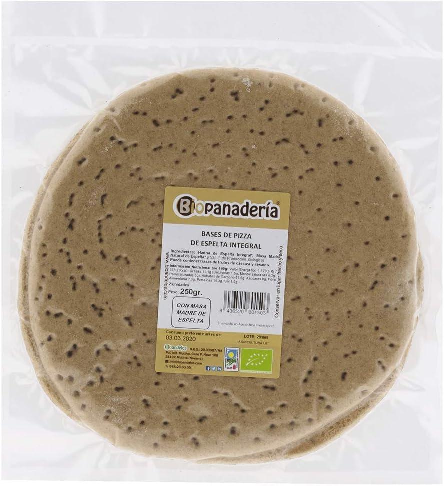 Biopanadería Bases de Pizza Integral Ecológica (Espelta Integral): Amazon.es: Alimentación y bebidas