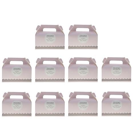 Sharplace 10 Pedazos Cajas de Pastel Decoración de Torta de Pastelería Envuelta de Regalos de Boda