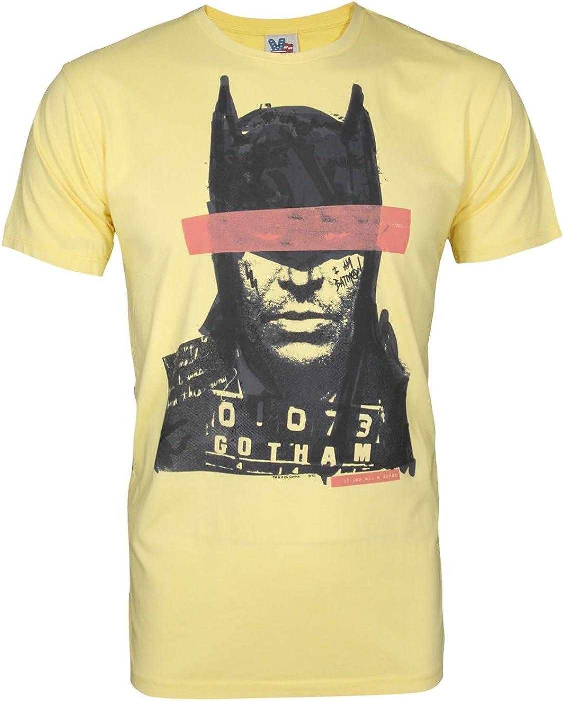 Junk Food Batman Mugshot Men's T-Shirt