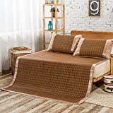 zaplawqi Summer Trellis Rattan mat/Thicken Foldable Rattan Table-A Queen1