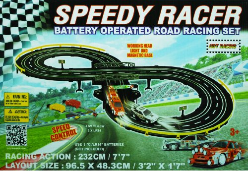 Golden Bright B/O Speed Racer Racing (Slot Car Track Lap Counter)