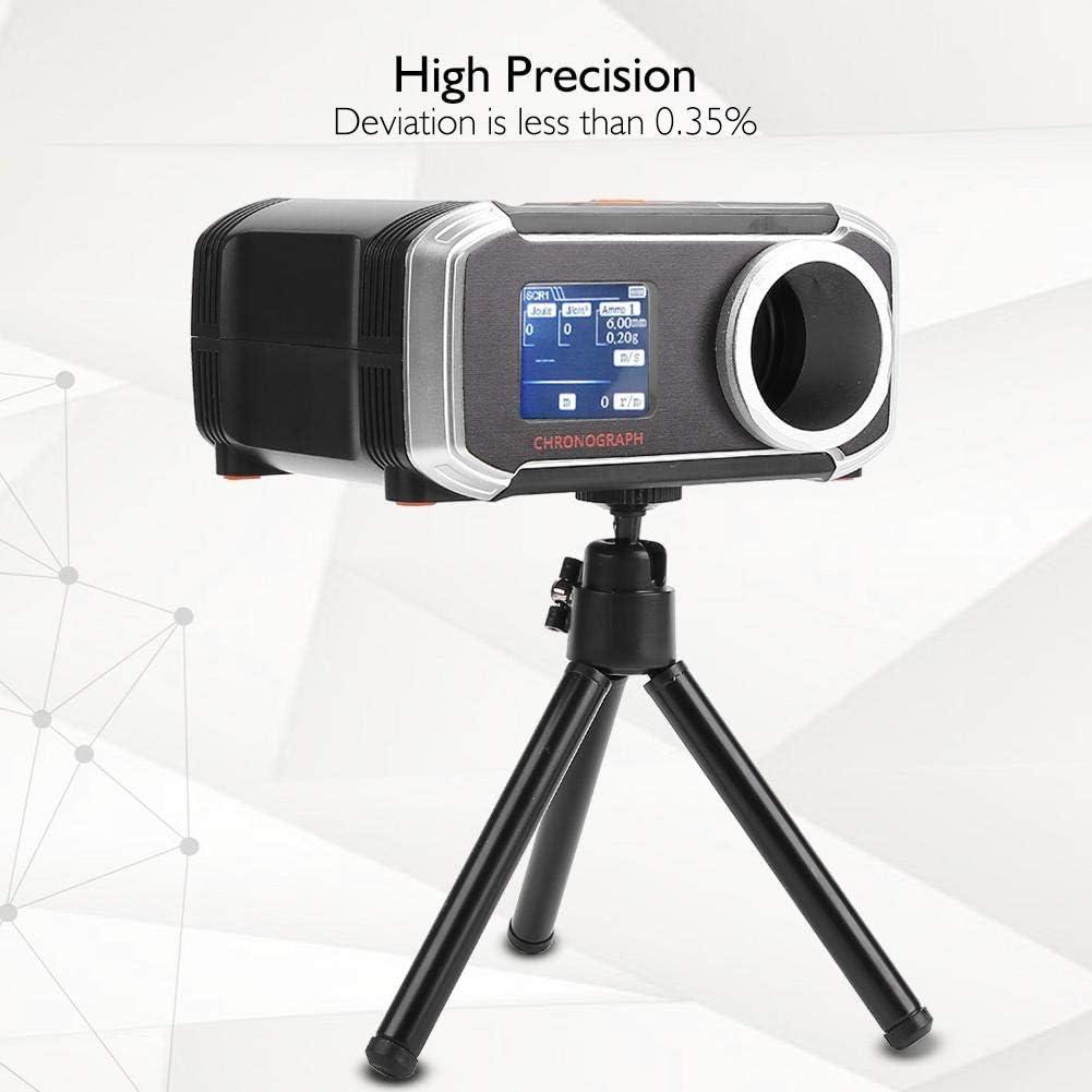Jadpes Airsoft Ball Tester BB Cron/ógrafo Tester Accesorio de Pistola de Aire Taqu/ímetro con Pantalla LCD Veloc/ímetro PP Bluetooth Velocidades s/íncronas Pantalla en Ocho Idiomas