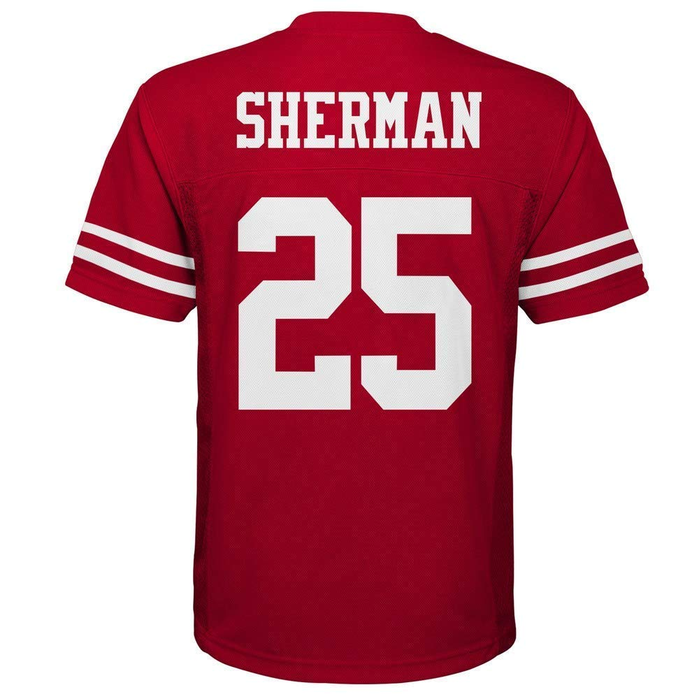 wholesale dealer b70ac 209c3 Outerstuff Richard Sherman San Francisco 49ers NFL Youth Red Home Mid-Tier  Jersey