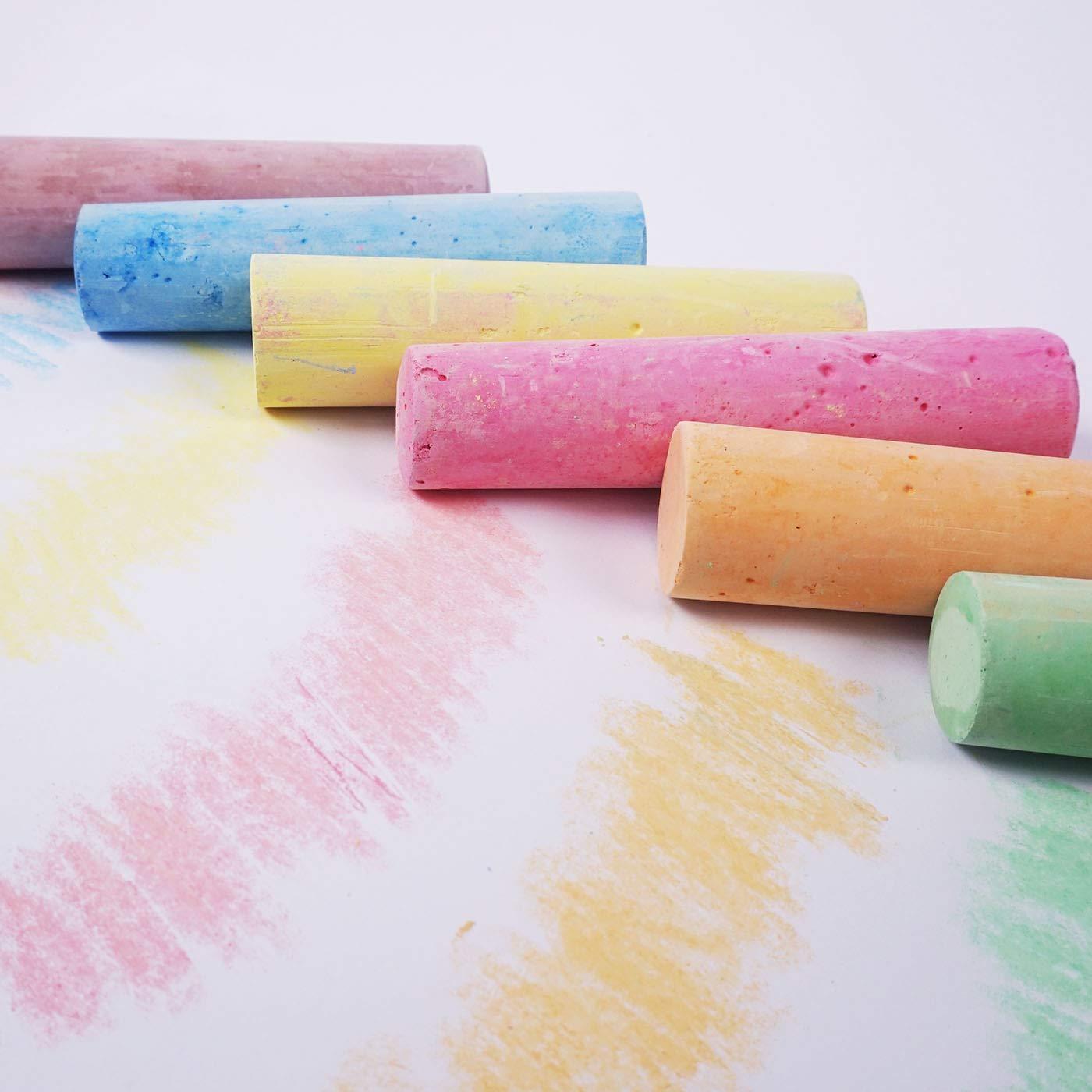 12 Pack Artbox Giant Pavement Chalks Pavement Art Coloured Floor Games Board