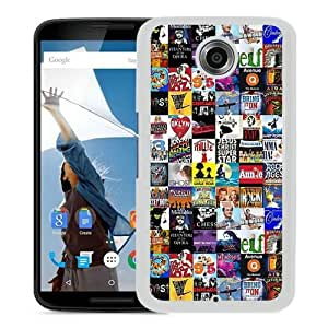 Grace Protactive Broadway Collage White Case Cover for Google Nexus 6