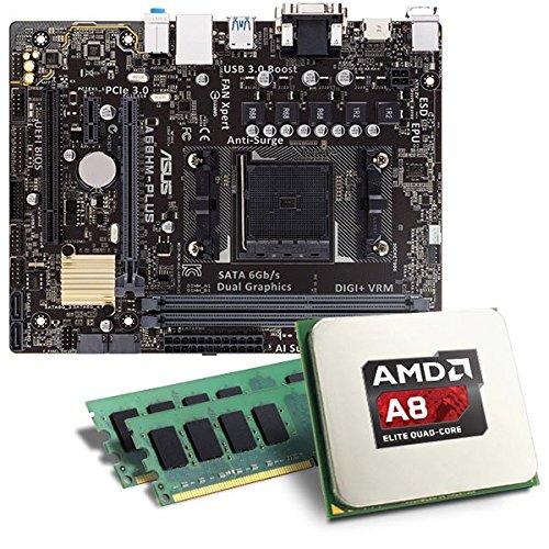 AMD A8-6600K / ASUS A68HM-PLUS Mainboard Bundle / 16384 MB | CSL PC Aufrüstkit | AMD A8-6600K APU 4x 3900 MHz, 16384MB DDR3, Radeon HD 8570D, GigLAN, 7.1 Sound | Aufrüstset | PC Tuning Kit