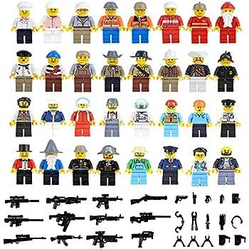 Set of 32 Compatible Lego Minifigures Set with 40+ Accessories, Lego Sets Compatible, Total 70+ pcsv