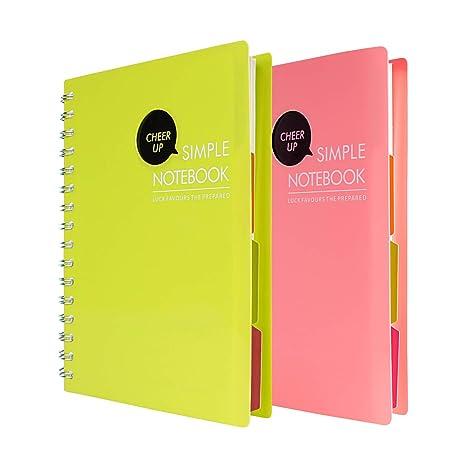 Amazon.com: Cuaderno en espiral, cuaderno de 4 puntos ...