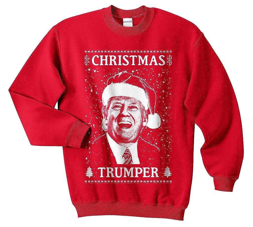 Sanfran Christmas Trumper Top Xmas Funny Donald Trump USA America Jumper Sweater