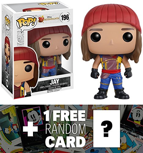 Jay: Funko POP! x Disney Descendants Vinyl Figure + 1 FREE Classic Disney Trading Card Bundle (078034)