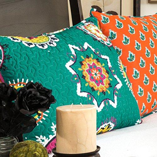 Lush Decor 3-Piece Adrianne Quilt Set, King, Turquoise