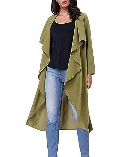 6ffb993afc246 Kate Kasin Basic Lightweight Lapel Collar Trench Coat Drape Jacket Outwear  for Women KK754