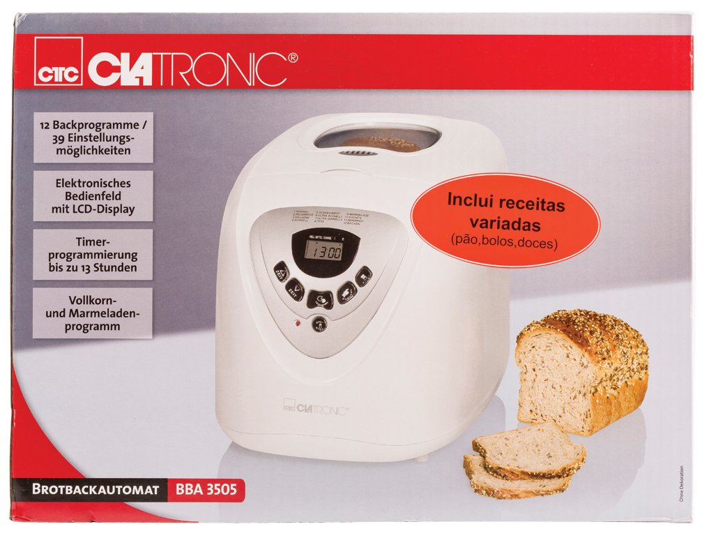 Amazon.com: Clatronic BBA 3505 Panificadora automática WHITE ...