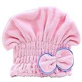 starlit Women's Stretchy Hair Drying Hat Spa Towel Turban Cap Cute Bowknot Soft Micro-fiber